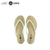 QWQ創意鞋-香檳金 GLITTER人字拖鞋-(PU系列 )