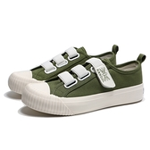 KANGOL 餅乾鞋 軍綠 帆布 鬆緊 黏帶 帆布鞋 休閒 女(布魯克林) 6952200370