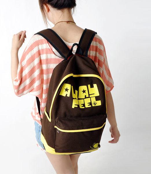日韓新款 後背包 雙肩包 學生書包 away feel 字母款-8色/單售
