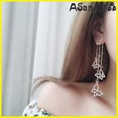 【YPRA】耳環 不對稱耳環韓國氣質女時尚百搭人耳飾品耳墜