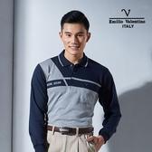 Emilio Valentino范倫鐵諾優質保暖時尚POLO衫 (藍/灰)