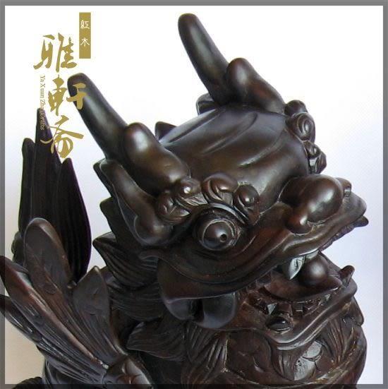 [超豐國際]雅軒齋實木雕貔貅擺件 越南紅木工藝品 紅木招財送1入