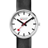 MONDAINE 瑞士國鐵 Giant BackLight巨人夜光腕錶 – 42mm/黑白經典 (XM-4211BLB)