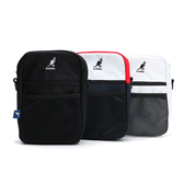 KANGOL 小方包 肩包 側背 帆布 網格袋 三色 小LOGO 可調式 (布魯克林) 60253013-