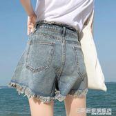 牛仔短褲 港味復古chic牛仔短褲女正韓高腰a字寬鬆顯瘦ins熱褲潮 『名購居家』