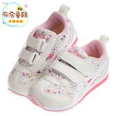 《布布童鞋》asics亞瑟士IDAHO_BABY碎花粉白兒童機能運動鞋(16~20公分) [ P7K187G ] 粉紅款