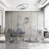 北歐簡約現代屏風隔斷公司裝飾墻客廳臥室遮擋家用折疊移動折屏CY『小淇嚴選』