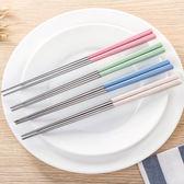 【小麥不銹鋼筷】韓系北歐環保無毒小麥秸稈 不鏽鋼餐具防滑筷子