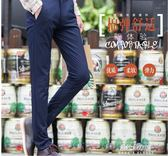 西裝褲 秋季新款男士高彈力休閒褲免燙西裝褲英倫商務修身長褲子男裝  朵拉朵衣櫥