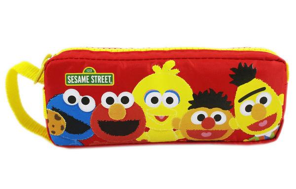 【卡漫城】 芝麻街 鉛筆盒 紅色 ㊣版 Elmo 餅乾怪獸 Sesame Street 收納包 方形 筆袋 大拉鍊