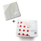 NIZIO 小蘑菇天然棉紗浴巾+跳跳糖嬰兒四層紗浴包巾 限時超值組合