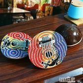 拇指琴 非洲椰殼拇指琴印尼產手撥琴手指琴便攜卡林巴琴七音手繪民族樂器 【全館九折】