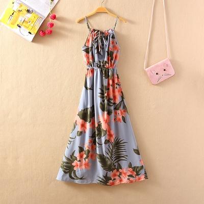 波西米亞沙灘裙~三亞巴厘島馬爾代夫沙灘裙超仙海邊度假吊帶連身裙長裙1F089A日韓屋