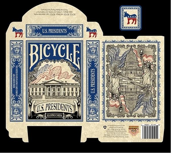 【USPCC撲克】Bicycle us president blue 美國總統 藍 民主黨