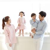 韓版粉嫩格紋長袖上衣親子裝(大人)