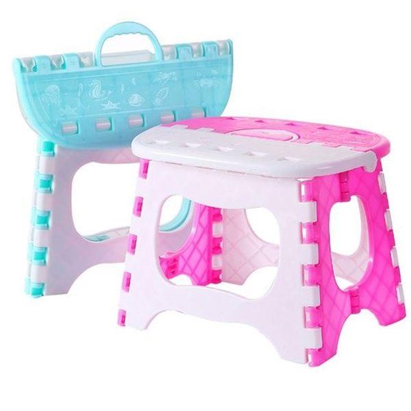 [拉拉百貨]手提折疊凳 小椅子 收納椅 沙灘椅 小折凳 烤肉釣魚椅 防滑型