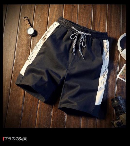 短褲男褲休閒寬鬆潮流大褲衩薄款夏運動五分褲沙灘褲【英賽德3C數碼館】
