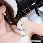 耳環 海邊度假海星貝殼珍珠耳環氣質韓國個性長款耳釘潮人耳墜女 Cocoa