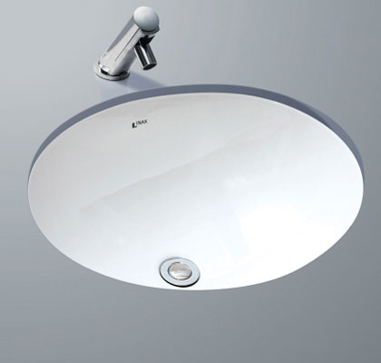【麗室衛浴】日本INAX   GL-2293V-TW  下崁臉盆  採用伊奈獨家防污技術 防止水垢 抗菌力強