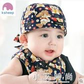 嬰兒帽子鬆緊頭巾帽0-3-6-12個月男女寶寶胎帽海盜帽純棉頭巾 小艾時尚