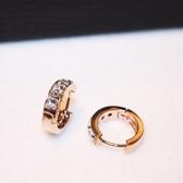 耳環 玫瑰金純銀鑲鑽-嚴選質感生日情人節禮物女飾品73ca88[時尚巴黎]