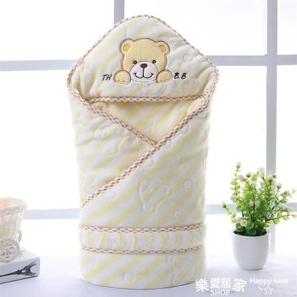 初生嬰兒抱被純棉春秋冬紅色包巾抱毯用品      SQ5593『樂愛居家館』