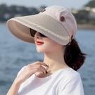 帽頂可拆可折疊防曬帽 防曬草帽 草帽MZX1471