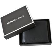 美國正品 MICHAEL KORS 男款 小牛皮八卡短夾禮盒組-黑色【現貨】