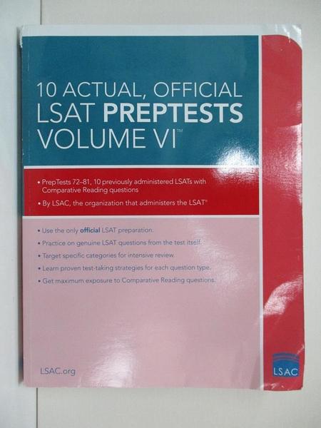 【書寶二手書T6/法律_KTW】10 Actual, Official LSAT Preptests_Law School Admission Council (COR)