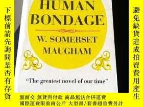 二手書博民逛書店OF罕見HUMAN BONDAGE 人性的枷鎖Y5803