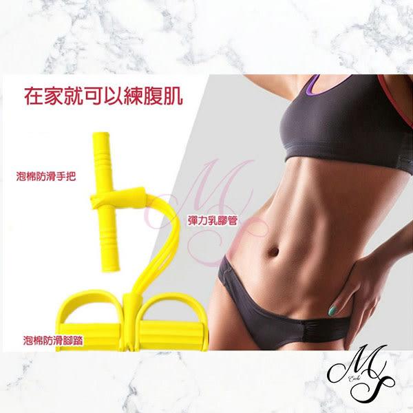 【Miss Sugar】【99免運】多功能4管腳踏拉繩健腹拉力器 (顏色不足 隨機出貨)