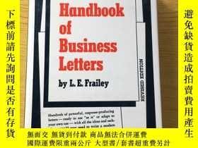 二手書博民逛書店Handbook罕見of Business Letters by L.E. Frailey【英文原版】精裝16開【