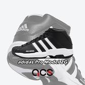 adidas 籃球鞋 Pro Model 2G 黑白 貝殼頭 復刻 男鞋 【ACS】 FW3670