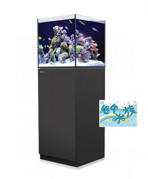 {台中水族}以色列原裝Red Sea -REEFER NANA珊瑚礁岩水族套缸(黑)  特價  45*45*45cm 超白玻璃8mm
