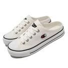 Champion 穆勒鞋 Canvas Slip 白 黑 帆布 女鞋 基本款 韓系 基本款 休閒鞋 【ACS】 WSLS101400