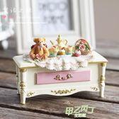 歐式復古公主家居飾品盒收納盒樹脂工藝品韓版可愛小熊 首飾盒