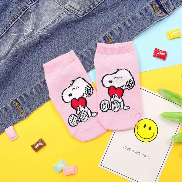 【正韓直送】韓國童襪 毛茸茸史努比兒童短襪 船襪 兒童襪 船型襪 寶寶襪 禮物 哈囉喬伊 R6