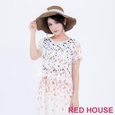 RED HOUSE-蕾赫斯-短版蕾絲上衣(白色)