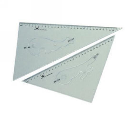 【徠福】 KTR-30 塑膠三角板