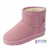 短靴 女短靴冬季新品加絨保暖一腳蹬懶人棉鞋子百搭學生女靴【快速出貨】