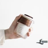 旅行茶具快客杯防燙陶瓷一壺三杯玻璃禮品套裝車載便攜式【邻家小鎮】
