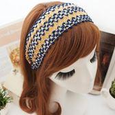 UNICO 韓版 時尚波西米亞風 黃藍亮片髮箍