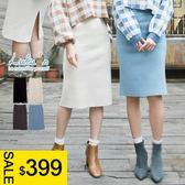 LULUS特價-Y後開叉針織中裙-4色  現+預【05020476】
