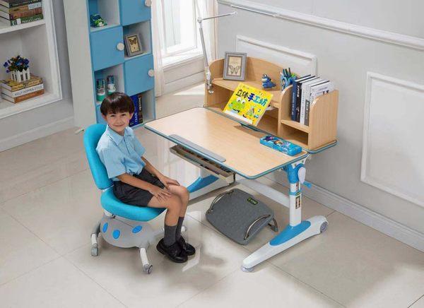 兒童書桌  可升降成長桌椅寫字畫畫桌椅組 人體工學椅 ME357+AU307【買一送三超划算】