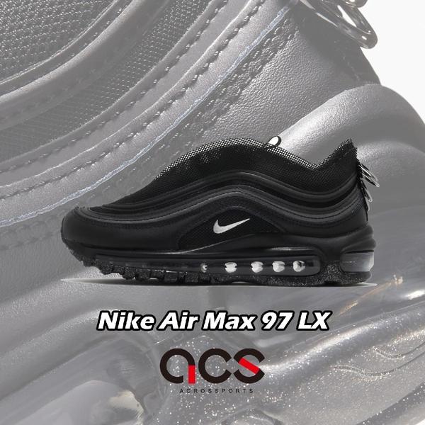 Nike 休閒鞋 Wmns Air Max 97 LX 黑 銀 女鞋 特殊鞋面設計 拉環後跟 運動鞋【ACS】 CV9552-001