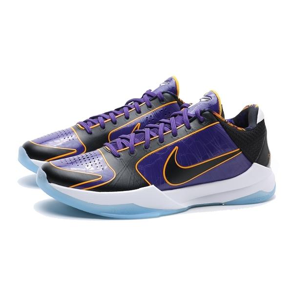 NIKE 籃球鞋 KOBE 5 PROTRO LAKERS 紫金 湖人 運動 男 (布魯克林) CD4991-500