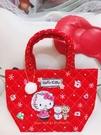 ♥小花花日本精品♥ Hello Kitty 提袋 手提袋 便當袋 紅色 站姿 小熊 雪花 日本限定 42152200