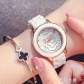 2019新款品牌手錶白色陶瓷防水女士腕錶簡約時尚韓版女生錶石英錶QM 藍嵐