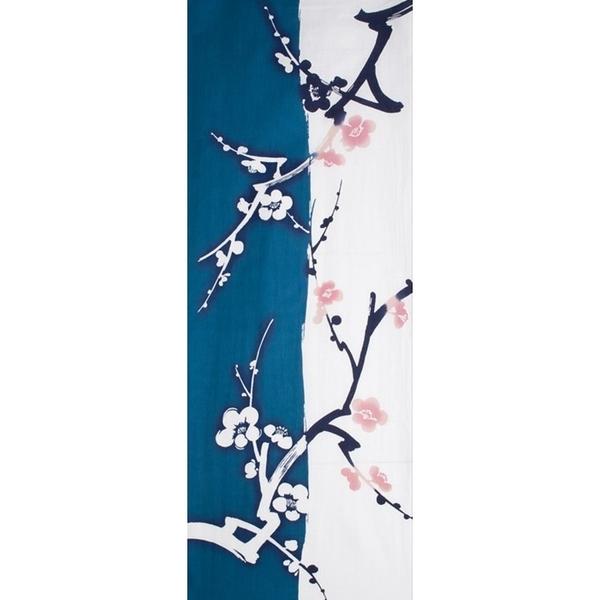 【日本製】【和布華】 日本製 注染拭手巾 藍色 梅花枝圖案(一組:3個) SD-5155-3 - 和布華