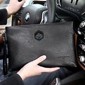 手拿包 手包男士手拿男包軟皮商務新款潮大容量時尚手提包包手抓錢夾夾包 南風小鋪
